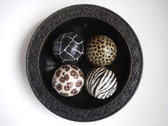 Leopard Decorative Balls Animal Print Leopard Zebra Decorative Art Balls Set by ArtBouquet 24