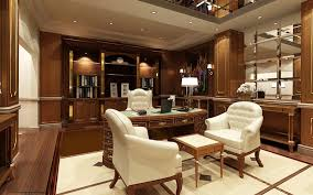 Office Room Expressive Interior Luxury Warmth Design