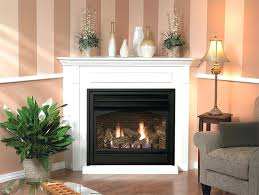 corner vent free gas fireplace vail 36 blacklouvers lg corner ventless gas fireplace real flame cau