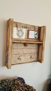 Reclaimed Wood Coat Rack Shelf Rustic shabby chic hand made reclaimed wood coat rack shelf Home 95