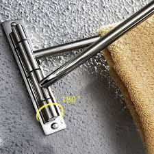 kes bathroom swing arm towel bars 2 arm wall mount swing out towel shelf brushed sus304