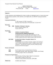9 Sample Registered Nurse Resumes Sample Templates