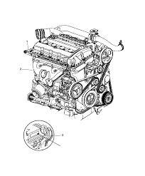 2008 chrysler sebring engine assembly identification diagram i2210720