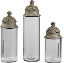 Large Decorative Glass Jars With Lids Canisters glamorous decorative glass kitchen canisters Kitchen 21