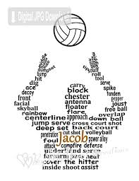 Volleyball Word Personalized Boy Volleyball Player Digital Word Art