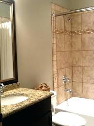 tan bathroom ideas gray and chic with walls paired subway tile color