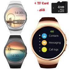 KW34 Bluetooth Thông Minh Đồng Hồ Điện Thoại Đầy Đủ Màn Hình Hỗ Trợ TF &  SIM Thẻ Smartwatch Nhịp Tim cho Samsung Galaxy A9 A8 a7 A5 A3 J7  J5