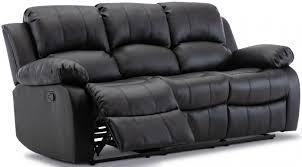 grosvenor leather sofa black recliner 3