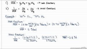 Average Molecular Weight Calculation Youtube