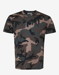 Print Vltn – Valentino Camouflage Zoofashions T-shirt Green com