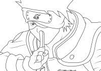Naruto Coloring Pages Kakashi With Kakashi Hatake Coloring Pages