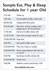 Sample Menu For One Year Old What Your Child Should Eat At