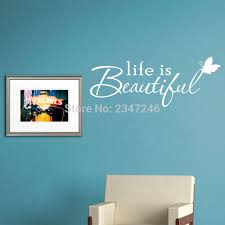 Wall Decal Quotes Simple Butterfly Lettering Quotes Wall Decal Life Is Beautiful Vinyl