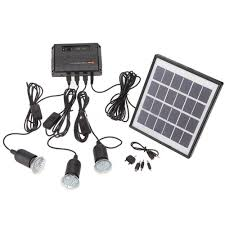 Outdoor Solar Power Panel LED Light Lamp USB Charger Home System Solar Power Lighting Kits