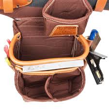 occidental leather 9922 iron workers leather bolt bag w outer bag tools home improvement