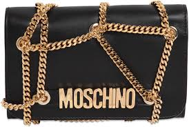 Moschino Chained Quilted Shoulder Bag | Bragmybag & Moschino Chained Quilted Shoulder Bag Adamdwight.com