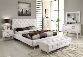 furniture magnificent contemporary mirrored bedroom furniture using white leather tufted king bed also tartan plaid bedspread bedroom furniture mirrored bedroom
