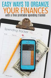 how to keep track of your spending easy ways to organize your finances with a free printable spending