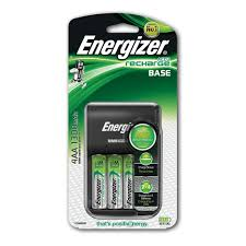 energizer nimh battery charger with batteries aa 1 2v 4pk image