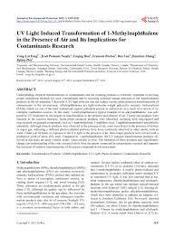 Uv Light Oxidation Pdf Uv Light Induced Transformation Of 1 Methylnaphthalene