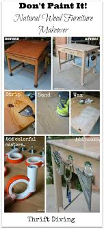 don t paint furniture when it s got gorgeous grain strip furniture for a natural wood look see this oak drafting table turned into a diy garage workbench