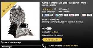 life size iron throne 8 hilarious reviews for game of thrones iron throne replica the