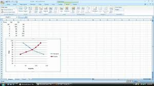 How To Change The X And Y Axis In Excel 2007 When Creating Supply And Demand Graphs