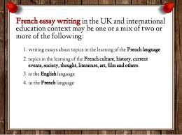how to write french essay 4 in the french language