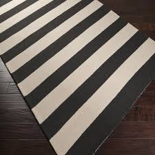 image of black and white outdoor rug stripes