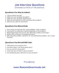 ... Attractive Inspiration Resume Questions 3 Job Interview Questions ...