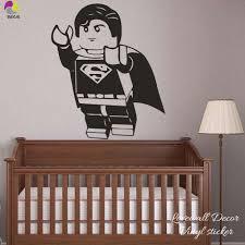 Cartoon Lego Superman Wandaufkleber Junge Kinderzimmer Lego
