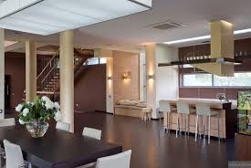 Modern House Pillar Designs Modern Kitchen Dining Open Plan With Pillars And Breakfast