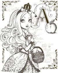 Small Picture Beautiful Princess Of Ever After High Printable Coloring Sheets At