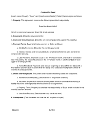 Purchase Agreement Contract Stunning How To Write A Contract For A Deed With Free Sample Contract
