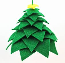 121 Best Holly Leaves And Christmas Trees Images On Pinterest Easy Christmas Felt Crafts