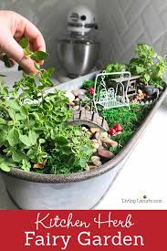 an herb fairy garden is a fun container garden for your kitchen easy tutorial for