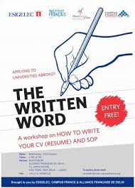 ... Resume Writing Workshop ...