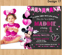 minnie mouse first birthday invitations for invitation template in a nice looking birthday invitation template 30 source pіxabay cоm
