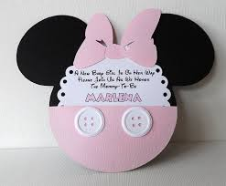 diy minnie mouse baby shower invitations pink