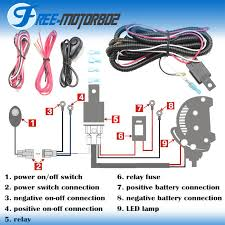 universal led light bar fog light wiring harness kit 40a 12v switch Wiring Harness Diagram universal led light bar fog light wiring harness kit 40a 12v switch relay fuse