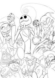 Small Picture Nightmare Before Christmas Adult Coloring Book Page Adult