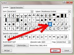 Microsoft Word Hearts Wingdings Heart Symbol Shape On Your Keyboard Type In Windows