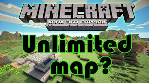 minecraft xbox one map size unlimited world for minecraft xbox 360 edition increased map size