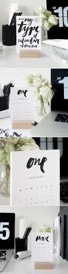 my type of calendar edition 2 2017 brush type desk calendar theprintroomdesign
