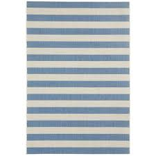 4 x 6 small striped capri blue indoor outdoor rug finesse