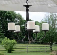 faux candle chandelier lights for outdoor