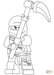Small Picture Ninjago Cole coloring page Free Printable Coloring Pages