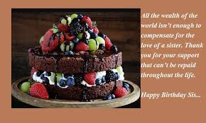 birthday wishes for sister with