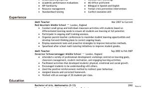 Teaching Resume Template Resumes Fascinating Online Samples With