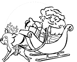 Small Picture Santa Rides Coloring Book Page Santa and Sleigh Coloring page